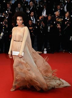 Solange Knowles in Stéphane Rolland - Cannes 2013