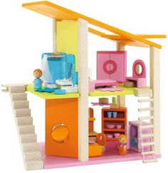 Small Dollhouse With Furniture