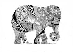 ...pick create a silhouette of an animal that they identify with and then filling it in with doodle art...