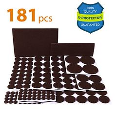 Discounted X PROTECTOR Premium ULTRA LARGE Pack Felt Furniture Pads 181  Piece! Felt Pads