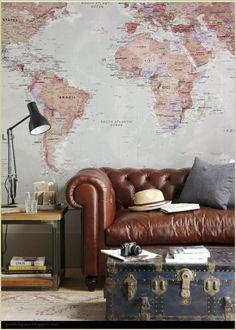 Decorar con Mapas Mundi