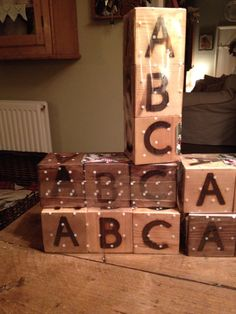 Abc cubes wrapped £10.00 each