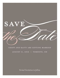 Large Script save the date!
