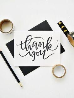 Calligraphy Thank You, Calligraphy Cards, Modern Calligraphy, Thank You Typography, Calligraphy Tattoo, Calligraphy Tutorial, Teachers Day Card, Teacher Cards, Teacher Appreciation Cards