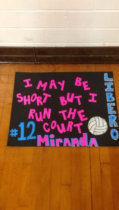 Volleyball sign! For libero