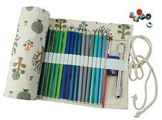 Cre-go Canvas Pencil Wrap, 72 Pencils…