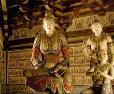 五代鎮國寺 中國古代建築中的一大瑰寶 文殊菩薩的雲肩與半臂襦裙