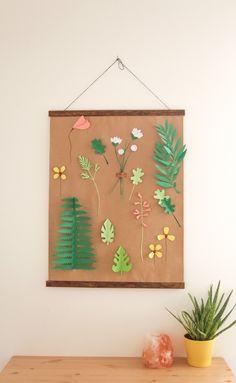 DIY affiche végétale en papier - Paper poster   Aux petites merveilles