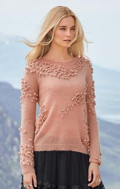 3c4705e222 Bobbles add a whimsical flair to this V-neck pullover sweater. Cozy Sweaters