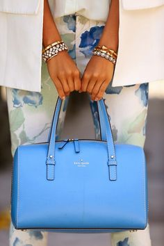 Kate spade bag - love this springy blue color!