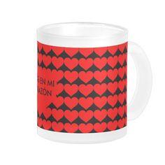 Frosted glass mug,Taza de cristal esmerilado