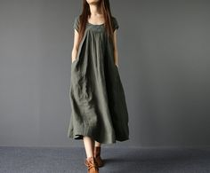 Summer Loose Fitting Long Maxi Dress Women Long Dress in by MaLieb