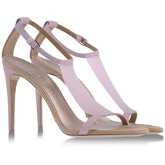 Think spring- Burberry Rubber Sandals, Pink Sandals, Pink Shoes, Heeled Sandals, Top Shoes, Me Too Shoes, Shoes Heels, Edgy Shoes, Burberry Shoes