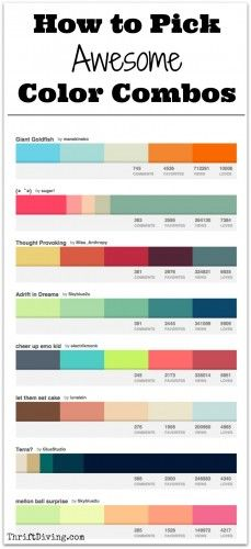 How to Pick Awesome Color Combos - Thrift Diving Blog