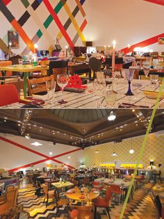 WALL ART ... STRIPES STRIPES STRIPES /// london's sketch restaurant | for the love of design