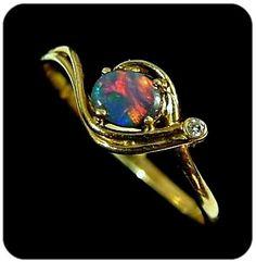 opals | Brilliant red on black opal from Lightning Ridge Opal fields. | Opals
