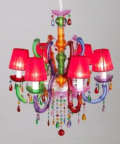 Large Shaded Gypsy Chandelier, Delicious Deco (Lighthing Chandelier Table Lamp Wall Lamp)