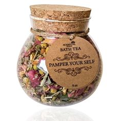 Shop Now, organic indulging bath tea handcrafted with flowers, herbs & essential oils