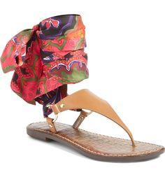 Main Image - Sam Edelman Giliana Ankle Tie Thong Sandal (Women)