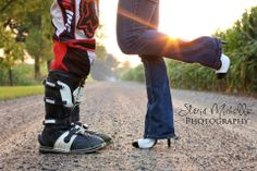 Motocross Engagement Session Courtesy of Stacia Michelle Photography.