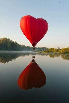 ❤️ shaped hot air balloon