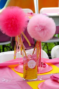 Google Image Result for http://www.babylifestyles.com/images/parties/pink-yellow-chloe-princess-birthday-party/chloe-pink-yellow-princess-first-birthday-party-pom-centerpieces.jpg