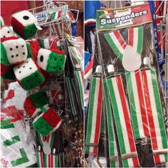 Popular items are now re-stocked for upcoming parades, festivals, and other favorite Italian-American celebrations. Stop by for flags, banners, beads, sashes, headbands, stickers, hair bows, bow ties, bandanas, fuzzy dice, anything you need. And don't forget the suspenders too!