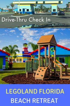 Legoland Florida Beach Retreat hotel and bungalows with drive-thru check in