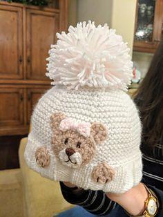 Ravelry: Peek-a-boo Teddy Bear Hat pattern by Knit Paint Sew Solids For Baby, Crochet Teddy, Baby Bonnets, Baby Knitting Patterns, Peek A Boos, Knitted Hats, Winter Hats, Teddy Bear, Ravelry