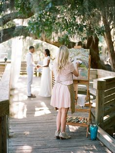 Southern Weddings A Storied Love - Southern Weddings Southern Bride, Southern Weddings, Charleston Style, Wedding Painting, Dream Wedding, Wedding Day, Ceremony Programs, Traditional Landscape, Wedding Decorations