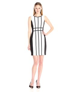 Calvin Klein Women's Piped Sleeveless Sheath Dress ** This is an Amazon Affiliate link. You can get more details by clicking on the image.