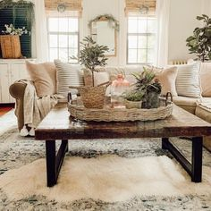 Home Living Room, Farm House Living Room, Living Room Furniture, Boho Living Room, Home Decor, Coffee Table, Living Decor, Home And Living, Living Room Designs