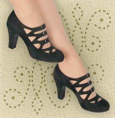 Aris Allen 3-buckle dance pumps - I need these . . . in red. WHY DON'T THEY COME IN RED?