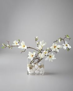 """Flowing Magnolia"" Floral Arrangement by John-Richard Collection at #Horchow #fauxfloral #homedecor"