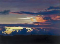april gornik paintings and drawings | April Gornik, Sunset at the Equator , 2005, Oil on linen, Lent by the ...