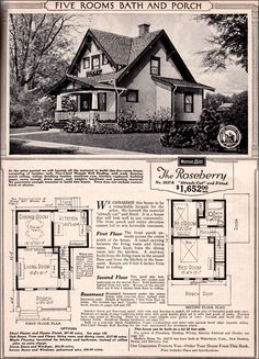 Sears Roebuck Kit Houses, 1923 -Retronaut: Kind of cool,  but needs an extra couple of rooms downstairs and a toilet (at least) downstairs!