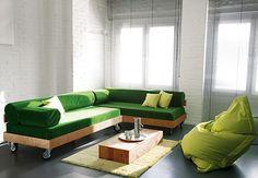 Lounge-Sofa - Selbstbauanleitung - step by step tutorial and free pdf template - Bildanleitung und pdf Schnittvorlage