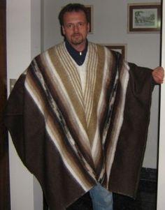 #Peruanischer #Poncho aus #Alpakawolle