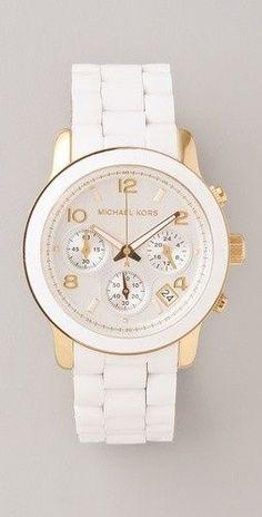 Fashion women's watch in white with   diamonds