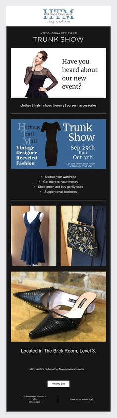 Introducing a new event! Trunk Show Coming Soon!