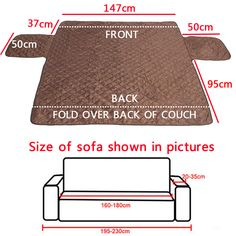 Hapet Water-Resistant Pet Furniture Protector Dog Cat Sofa Mat Soft Sofa Cover Bed is Worth Buying - NewChic MobilePet Dog Couch Loveseat Sofa Cushion Pad Furniture Antifouling Protector Cover Waterproof is on sale at discount prices now, buy Pet Dog Dog Couch, Couch And Loveseat, Cushions On Sofa, Diy Sofa Cover, Couch Covers, Cushion Covers, Techniques Couture, Sewing Techniques, Sewing Hacks