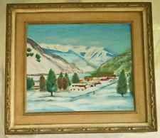 Vintage Vail Cresthaven Colorado Snow Huge Painting Pinki Packert Reinfeld 1979