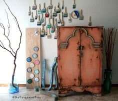 The Turquoise Iris ~ Vintage Modern Home: Coral and Teal Wardrobe Makeover