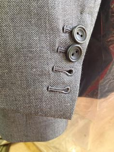 hand sewn button holes at SavileRow Training Academy