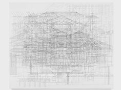 JULIE MEHRETU - BAYREUTH, 2010 INK AND ACRYLIC ON LINEN 60 X 72 IN. ( 152.4 X 182.88 CM )