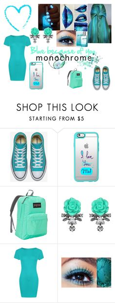 """BLUE !!!!!"" by vaug7168 ❤ liked on Polyvore featuring Casetify, JanSport, Darya London, WearAll and River Island"