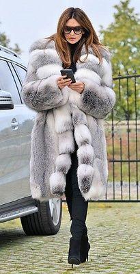 Picture 5 of 10 Fur Fashion, Winter Fashion, Chinchilla Coat, Coat Outfit, Long Fur Coat, Fox Coat, Winter Fur Coats, Fabulous Furs, White Fur
