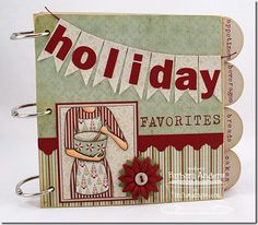 MFT August Creative Challenge--Mini Books. . . what a great way to share your Christmas cookie recipes!!!!