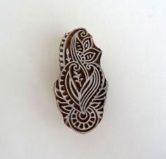Handcarved Indian wooden stamp  traditional by IndianCraftsBazaar, $9.50