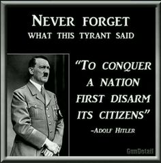 Disarming and render them without any means to say NO